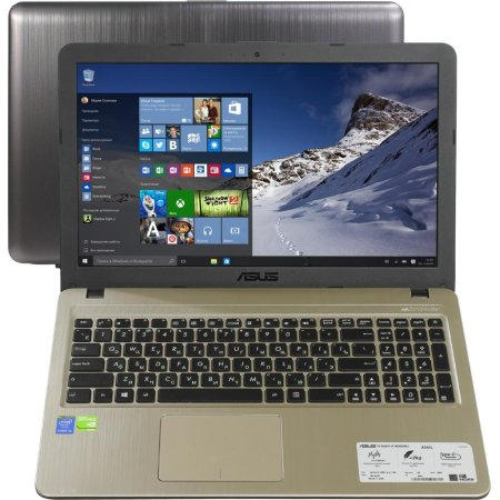 "Asus X540LJ-XX011T 15.6"", Intel Core i5, 2200МГц, 4Гб RAM, DVD-RW, 520Гб, Черный, Windows 10, Bluetooth, WiMAX"