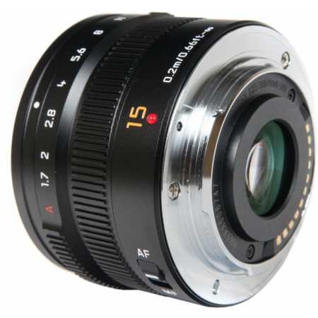 Объектив Lumix H-X015E LEICA DG SUMMILUX 15 мм / F1.7 ASPH. H-X015 черный Широкоугольный, Micro 4/3