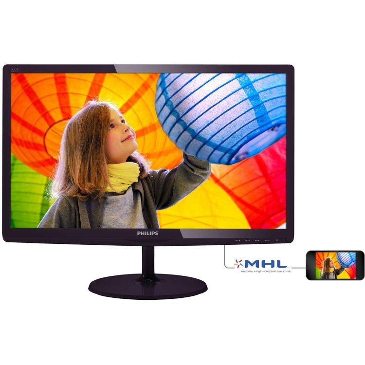 "Philips 227E6LDSD/00 21,5"" Черный, VGA, DVI, HDMI, TFT"