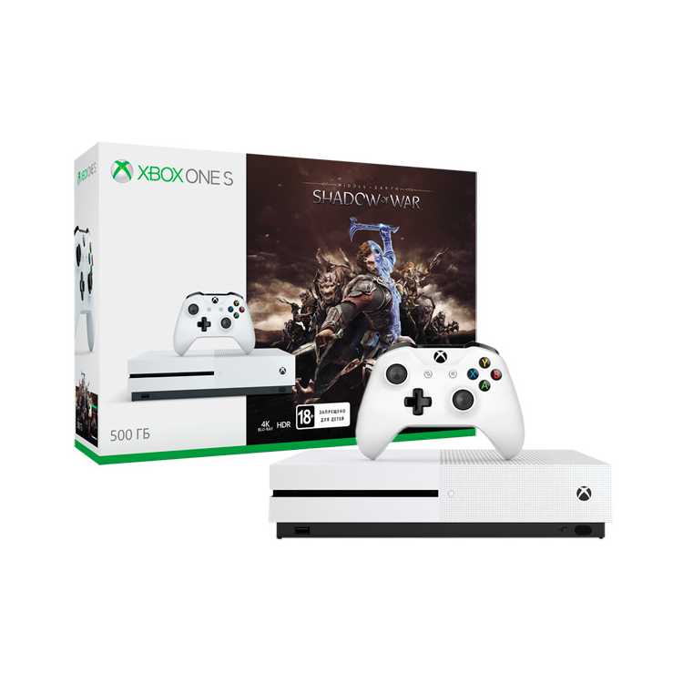 Xbox One S 500 Гб + Shadow of War