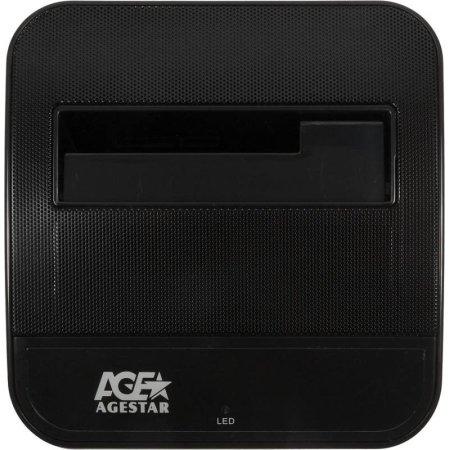 Док-станция для HDD AgeStar 3CBTO1 SATA USB 3.0/eSATA пластик черный 1