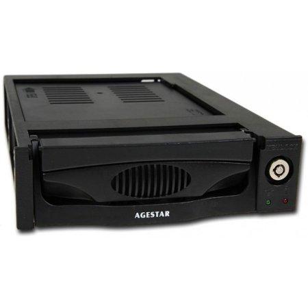 "Сменный бокс для HDD AgeStar MR3-SATA(SW)-3F SATA II пластик черный hotswap 3.5"""