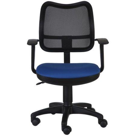 Кресло Бюрократ CH-797AXSN/26-21 спинка сетка черный сиденье синий 26-21