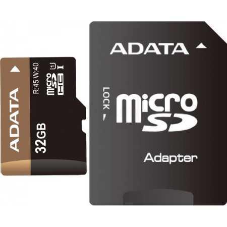 A-Data AUSDH32GUI1-RA1 microSDHC, Class 10, 32Гб
