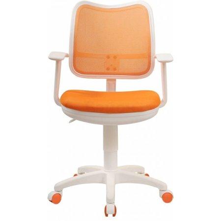 Кресло Бюрократ CH-W797/OR/TW-96-1 спинка сетка оранжевый сиденье оранжевый TW-96-1 пластик белый