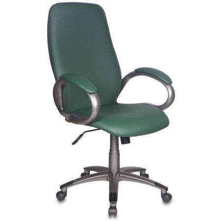 Кресло руководителя Бюрократ T-700DG/OR-01 зеленый Or-01 искусственная кожа пластик темно-серый