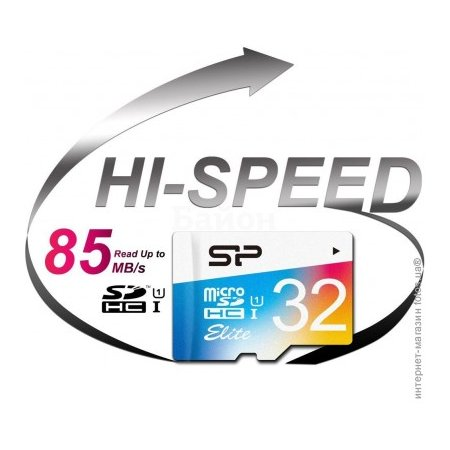 Silicon Power 32Gb microSDHC, 32Гб, Class 10