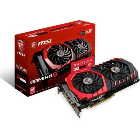 MSI Radeon RX 480 GAMING X 4G PCI-E 16x 3.0, 4096Мб, GDDR5