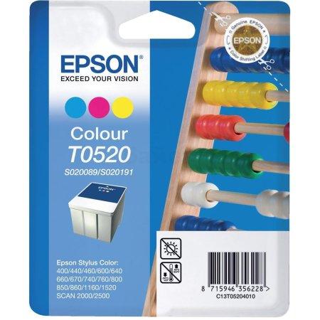 Epson T0520 Картридж струйный, Не указан, Пурпурный, Голубой, Желтый, Стандартная