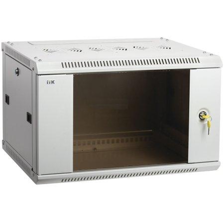 IEK ITK Шкаф LINEA W 6U 600x600 мм дверь стекло, RAL7035
