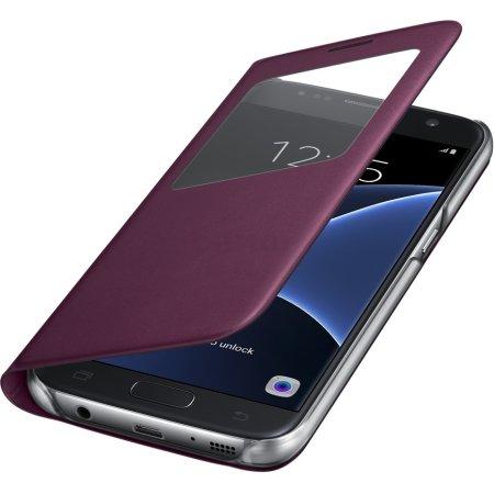 Samsung S View Cover для Samsung Galaxy S7 Бордо