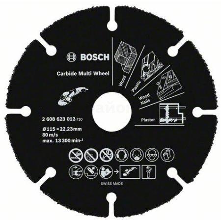 Отрезной диск по дереву Bosch 2608623012 d=115мм d(посад.)=22.23мм (угловые шлифмашины)