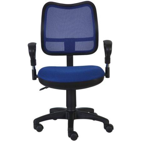 Кресло Бюрократ CH-799/BL/TW-10 спинка сетка синий сиденье синий TW-10