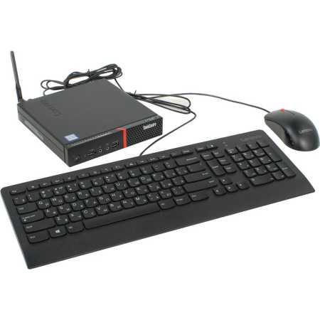 Lenovo ThinkCentre M700 Tiny Intel Core i5, 2200МГц, 4Гб RAM, 500+8SSDГб, DOS, Черный