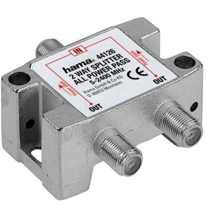 Антенный разветвитель Hama H-44126 SAT  (КРАБ) 1->2 F-штек. (f) 5-2300 МГц 75 Ом металл