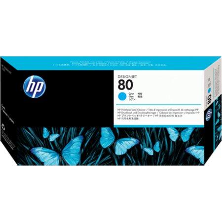 HP Inc. Печатающие головка HP 80 с устройством очистки для DsgJ 1050C,C Plus/1055CM,CM Plus , синий