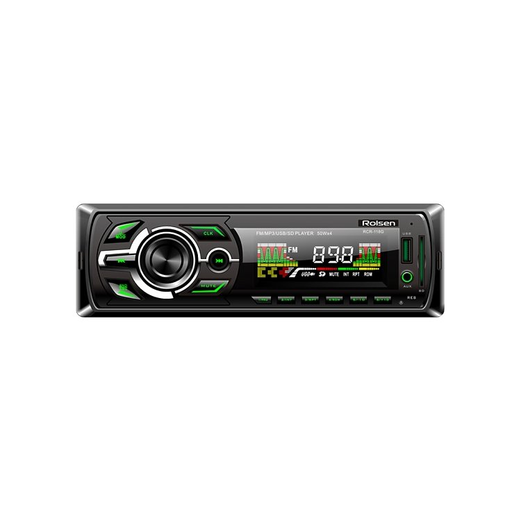 Rolsen RCR-118 зелёная подсветка