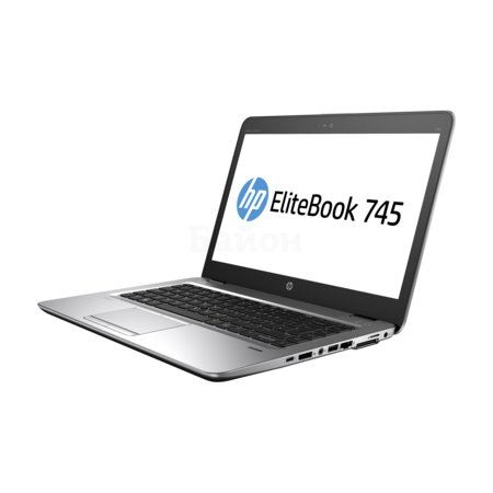 "HP EliteBook 745 G3 14"", AMD A12, 2100МГц, 8Гб RAM, DVD нет, 256Гб, Windows 10, Windows 7, Серебристый, Wi-Fi, Bluetooth"