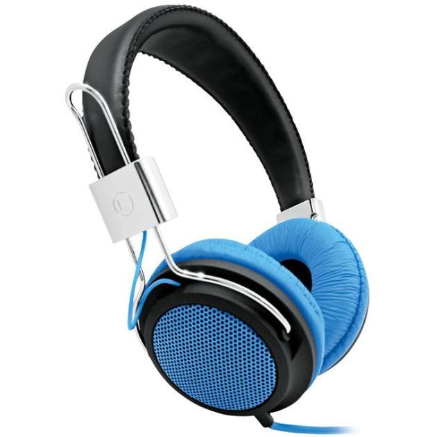 Наушники накладные BBK EP-3500S 1.5м черный/голубой проводные оголовье Голубой
