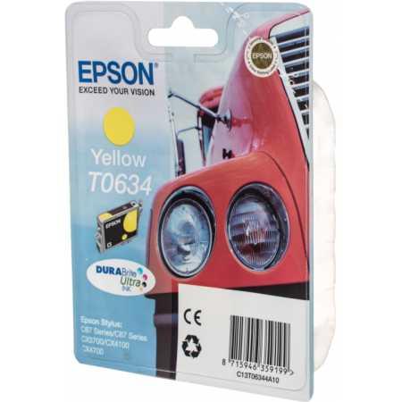 Epson C13T06344A10 Картридж струйный, Желтый, Стандартная, нет