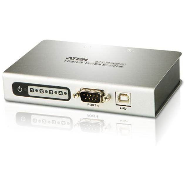 ATEN 4 PORT USB TO RS232 CONVERTER W/1.8M