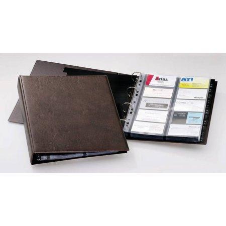 Визитница переносная Durable Visifix 2384-11 A4 57х90мм (400 визиток) вклад.:20шт. ПВХ коричневый