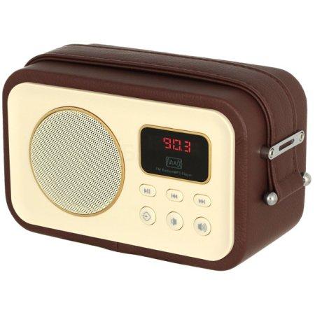 MAX МR-320 Наличие FM, Коричневый, Поддержка MP3