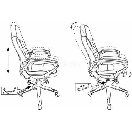 Кресло руководителя Бюрократ CH-825S/Black+Rd вставки красный сиденье черный искусственная кожа пластик серебро