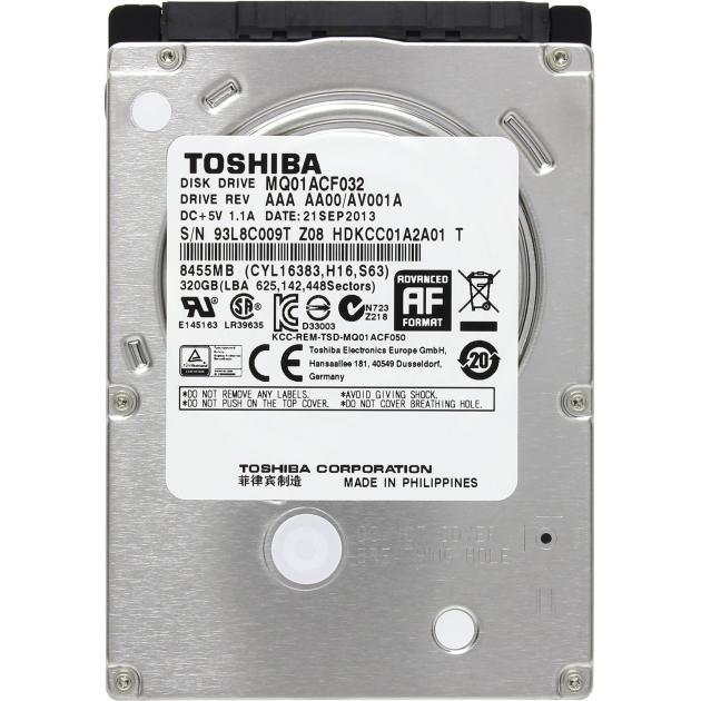 "Toshiba MQ01ACF032 320Гб, 600, 2.5"" HDD"