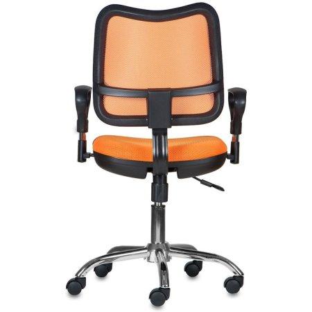 Кресло Бюрократ CH-799SL/OR/TW-96-1 спинка сетка оранжевый сиденье оранжевый TW-96-1 крестовина хром