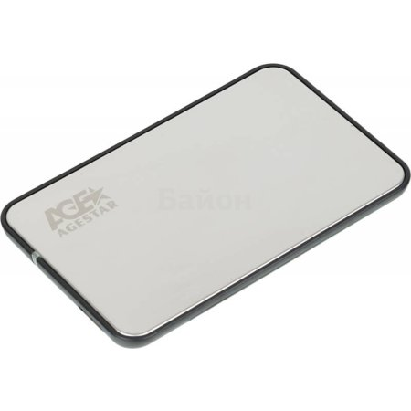 "Внешний корпус для HDD/SSD AgeStar 3UB2A8S-6G SATA III пластик/алюминий серебристый 2.5"""