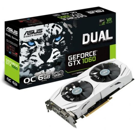Asus NVIDIA GeForce GTX 1060 OC DUAL 6144Мб,GDDR5,1506MHz, DUAL-GTX1060-O6G