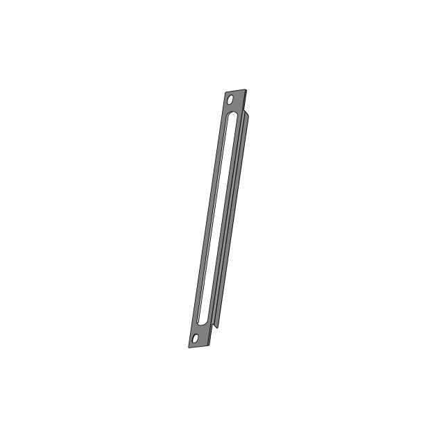 """Органайзер кабельный 10"""" с отверстиями для патч-кордов 1/2U серый"""