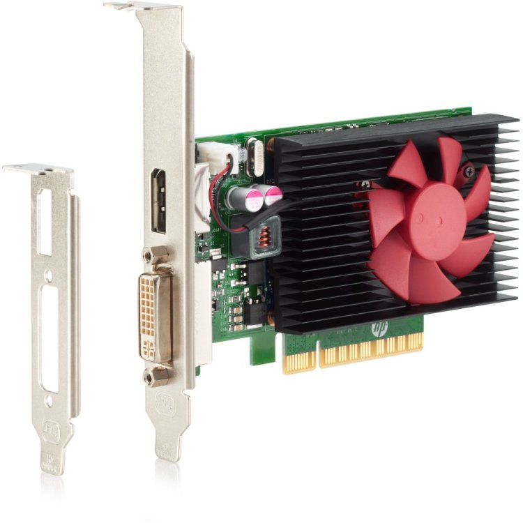 HP NVIDIA GeForce GT730 GFX 2048Мб, GDDR3, 730MHz