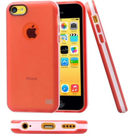 Promate Neon5c накладка, пластик, Красный