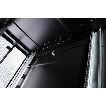ЦМО Шкаф серверный ПРОФ напольный 42U (600x1200) дверь перфорированная 2 шт., цвет черный, в сборе, [ ШТК-СП-42.6.12-44АА-9005 ]