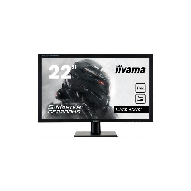"Iiyama G-MASTER GE2288HS-B1 21.5"", Черный, DVI, HDMI, Full HD"