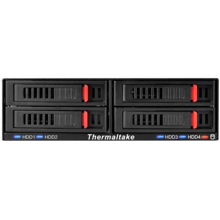 "Сменный бокс для HDD/SSD Thermaltake Max5 Quad SATA III пластик/алюминий черный hotswap 2.5"""