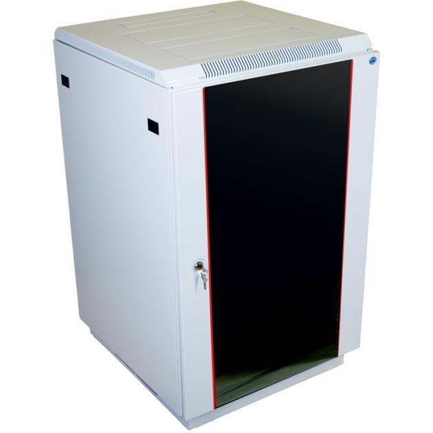 ЦМО Шкаф телекоммуникационный напольный 18U (600x600) дверь стекло (2 места), [ ШТК-М-18.6.6-1ААА ]