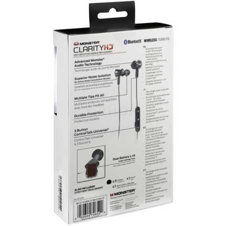 Monster Clarity HD Bluetooth Wireless In-Ear Черный