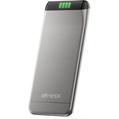 Hiper Power Bank SLS6300 Silver Серебристый, 6300мАч