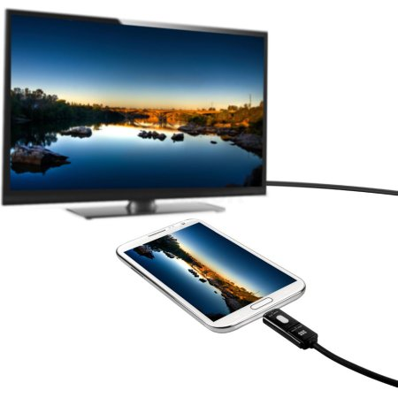 Promate proView MHL H+ 1.25м, HDMI, Микро-USB, Черный