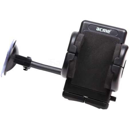 """ACME MH02 для смартфонов, крепление на стекло Черный, 4"""""""