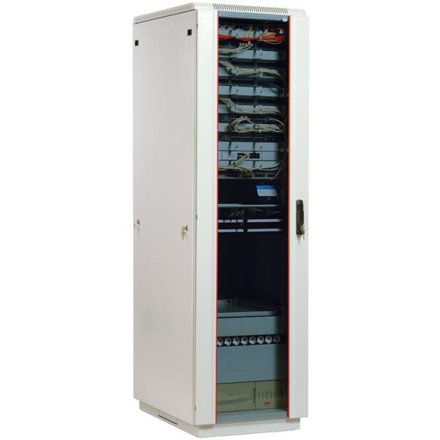 ЦМО Шкаф телекоммуникационный напольный 47U (600х800) дверь стекло (3 места) [ ШТК-М-47.6.8-1ААА ]