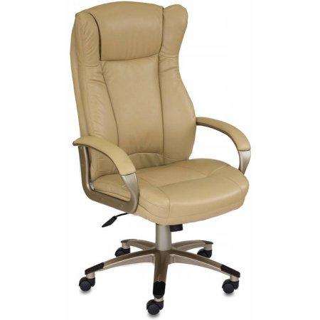 Кресло руководителя Бюрократ CH-879Y/Beige бежевый искусственная кожа пластик золото