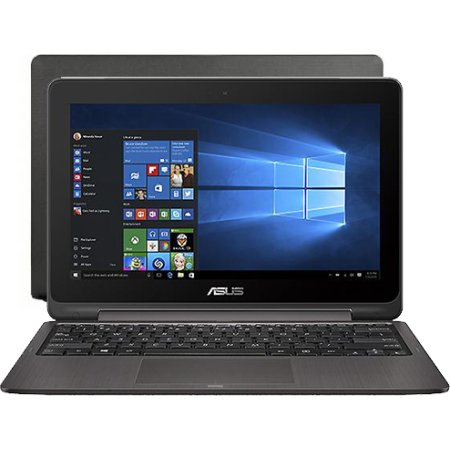 "Asus VivoBook Flip TP201SA-FV0009T 11.6"", Intel Celeron, 1600МГц, 2Гб RAM, DVD нет, 500Гб, Черный, Wi-Fi, Windows 10, Bluetooth"