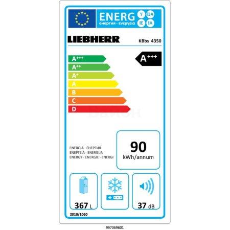 Liebherr KBbs 4350 Premium BioFresh Серебристый, 367л