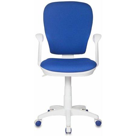 Кресло Бюрократ CH-W513/26-21 синий 26-21 пластик белый