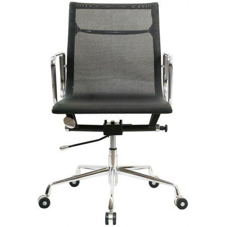 Кресло руководителя Бюрократ CH-996-Low/black низкая спинка черный сетка крестовина хромированная