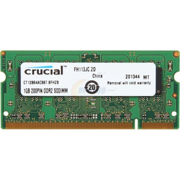 Crucial CT12864AC667 1Гб, PC2-5300, 667, SO-DIMM
